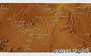 Physical 3D Map of `Abdolābād