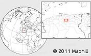 Blank Location Map of Baniou