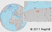 Gray Location Map of Baniou