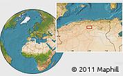 Satellite Location Map of Aït Sidi Ahmed Ou Ali