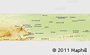 Physical Panoramic Map of Mechta Ben Mehdi