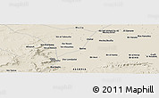 Shaded Relief Panoramic Map of Mechta Ben Mehdi