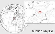 Blank Location Map of Al Hoceïma