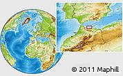 Physical Location Map of Al Hoceïma
