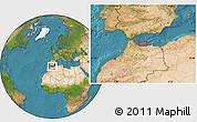 Satellite Location Map of Al Hoceïma