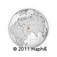 Outline Map of Semnan, rectangular outline