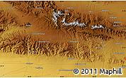 Physical Map of Kāshmar