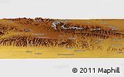 Physical Panoramic Map of Kāshmar