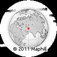 Outline Map of Zāveh, rectangular outline