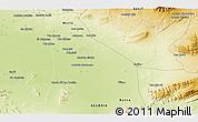 Physical 3D Map of 'Aïn Khadra