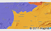 Political 3D Map of 'Aïn Khadra