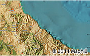 """Satellite Map of the area around 35°24'37""""N,5°1'30""""W"""
