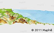 Physical Panoramic Map of Kitane