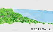 """Political Panoramic Map of the area around 35°24'37""""N,5°1'30""""W"""