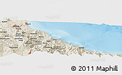 Shaded Relief Panoramic Map of Tétouan