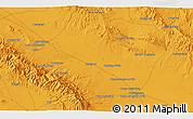 Political 3D Map of Torbat-e Jām