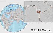 Gray Location Map of Torbat-e Jām