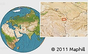 Satellite Location Map of Torbat-e Jām