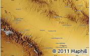 Physical Map of Torbat-e Jām