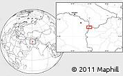 Blank Location Map of Chenārak (2)