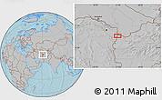 Gray Location Map of Chenārak (2), hill shading