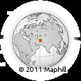 Outline Map of Chenārak (2), rectangular outline
