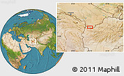 """Satellite Location Map of the area around 35°24'37""""N,62°7'30""""E"""
