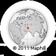 Outline Map of Towrgondi, rectangular outline