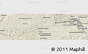 Shaded Relief Panoramic Map of Mangān