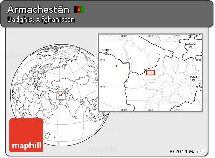 Blank Location Map of Armachestān