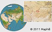 Satellite Location Map of Shorshoreh