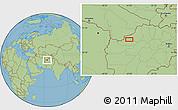 Savanna Style Location Map of `Alamchū