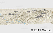 Shaded Relief Panoramic Map of Bozbā'ī