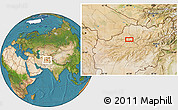 """Satellite Location Map of the area around 35°24'37""""N,65°31'30""""E"""