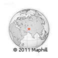"""Outline Map of the Area around 35° 24' 37"""" N, 65° 31' 30"""" E, rectangular outline"""