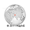 """Outline Map of the Area around 35° 24' 37"""" N, 66° 22' 30"""" E, rectangular outline"""