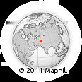 Outline Map of Nakhluch, rectangular outline