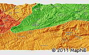 Political 3D Map of `Alā od Dīn