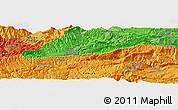 Political Panoramic Map of `Alā od Dīn