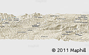 Shaded Relief Panoramic Map of `Alā od Dīn