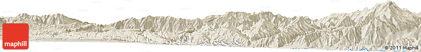 Shaded Relief Horizon Map of Ālūcheh