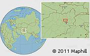 "Savanna Style Location Map of the area around 35°24'37""N,68°55'30""E"
