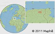 Savanna Style Location Map of Mechta Markounda