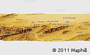 Physical Panoramic Map of Bou Ahmar