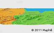 Political Panoramic Map of Bou Ahmar