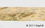 Satellite Panoramic Map of Bou Ahmar