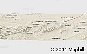 Shaded Relief Panoramic Map of Mechtat el Malahkal