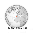 """Outline Map of the Area around 35° 24' 37"""" N, 6° 43' 29"""" W, rectangular outline"""