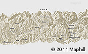 "Shaded Relief Panoramic Map of the area around 35° 24' 37"" N, 72° 19' 29"" E"