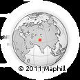 Outline Map of Spat Gah, rectangular outline